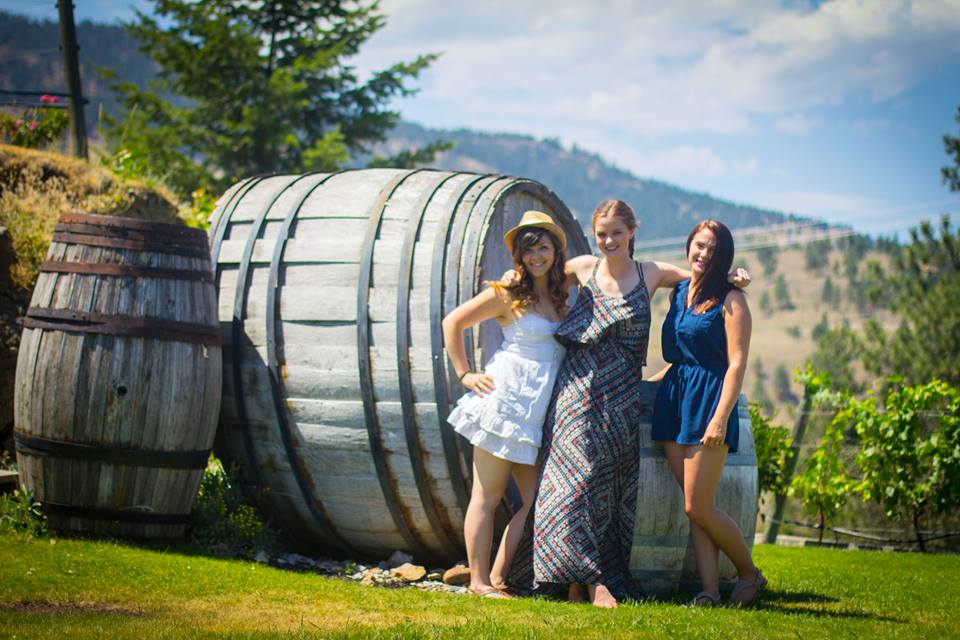 personal highlight of July was when Jasmine and sonia came. Here we are pictured at a winery